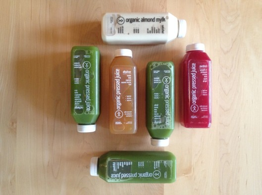One day supply of Christopher's Kitchen juices.